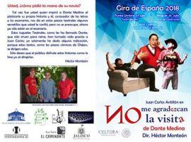 Dante Medina dramaturgo jalisciense irá de gira a España