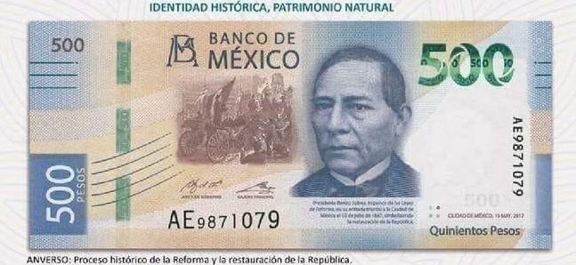 ¿Porqué el nuevo billete de 500 tiene la imagen de Benito Juárez?