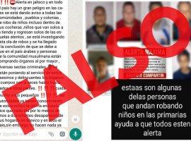 Fiscalía pide no replicar información falsa sobre robo de niños