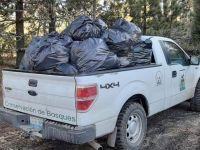 Turistas abarrotan el nevado… de basura