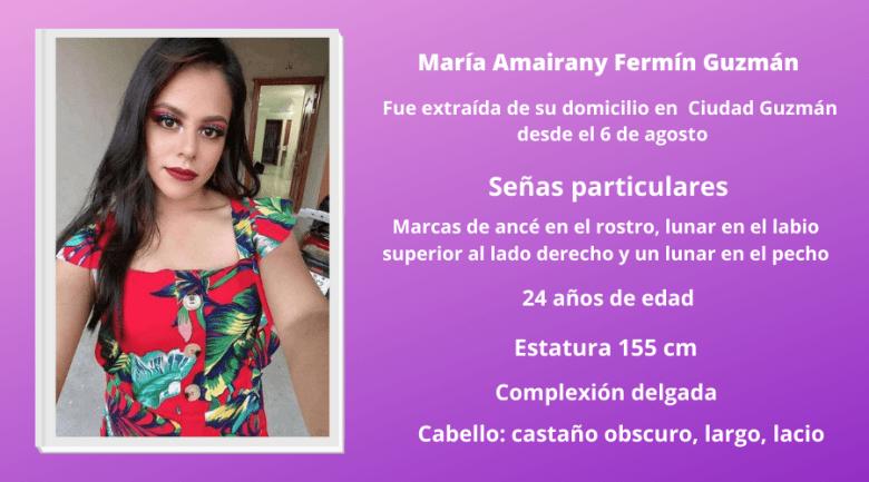 Continúa la búsqueda de Amairany, desaparecida en Ciudad Guzmán