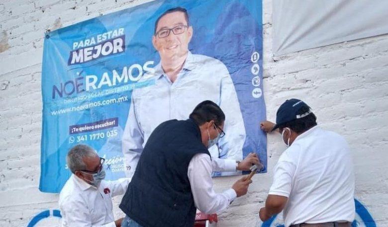 Noé Ramos reporta un gasto de 182 mil pesos a un mes campaña electoral