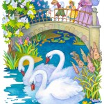 Cartoon Swans 65668921