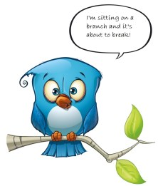 bird on branch with text_116777686