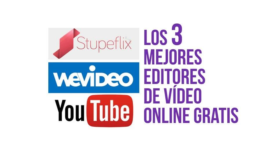 Los tres mejores editores de vídeo online gratis