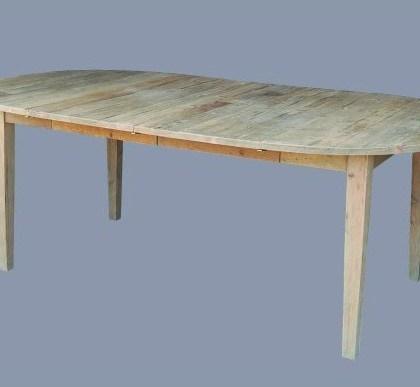 007SE-1507 Mesa de pino natural, extensible ( d. 120 + 2 extensiones de 50 cms )