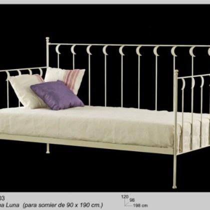02852303 Sofá-cama de forja Lunas