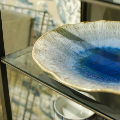 Plato de cerámica, azul ultramar