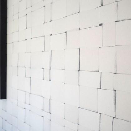 papel pintado blanco y negro salón