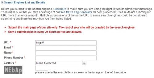 Free Submission web- comprueba el SEO de tu sitio web