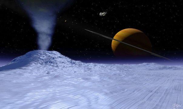 Visión artística de Encélado