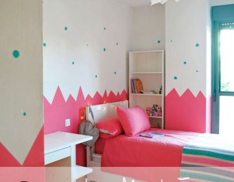 habitacion infantil kids rosa diy pintura decoracion