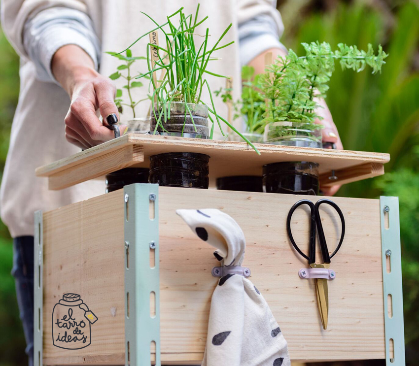 huerto, diy, jardin, caja de madera, reciclaje