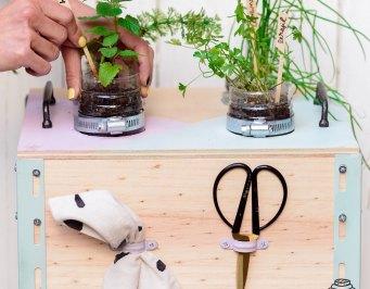 huerto, diy, manualidades, reciclaje, reciclar, paso a paso, jardin, terraza, mueble