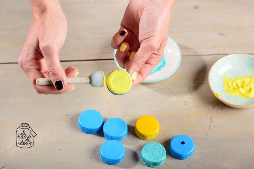 playa, ocio infantil, diy, handmade, tapones de plastico, reciclar, creatividad