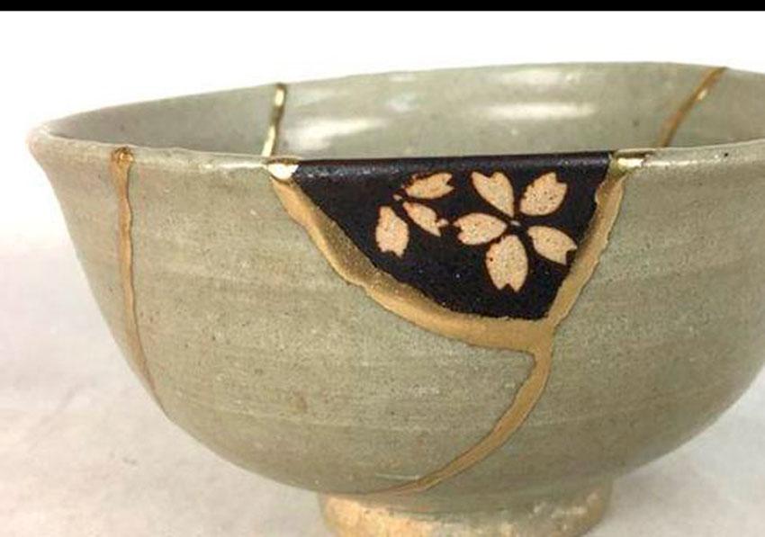 kintsukuroi, ceramica, artesania, japones, tecnica reparacion,
