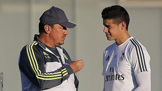 Rafael Benitez and James Rodriguez