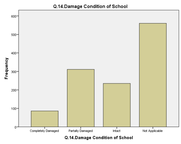 damage of public school