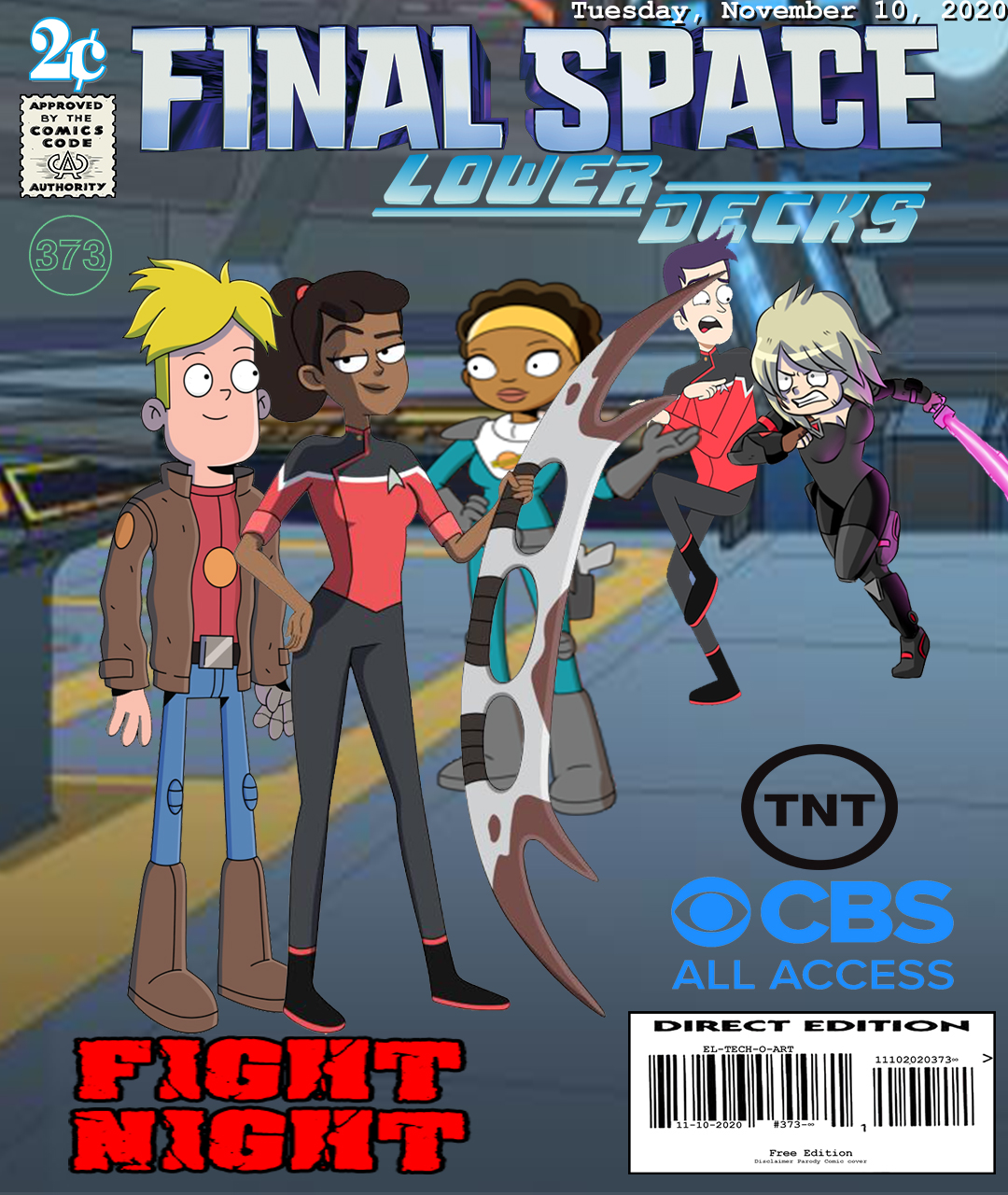 Fan Photoshop Edit Comic Cover Of Final Space and Star Trek Lower Decks