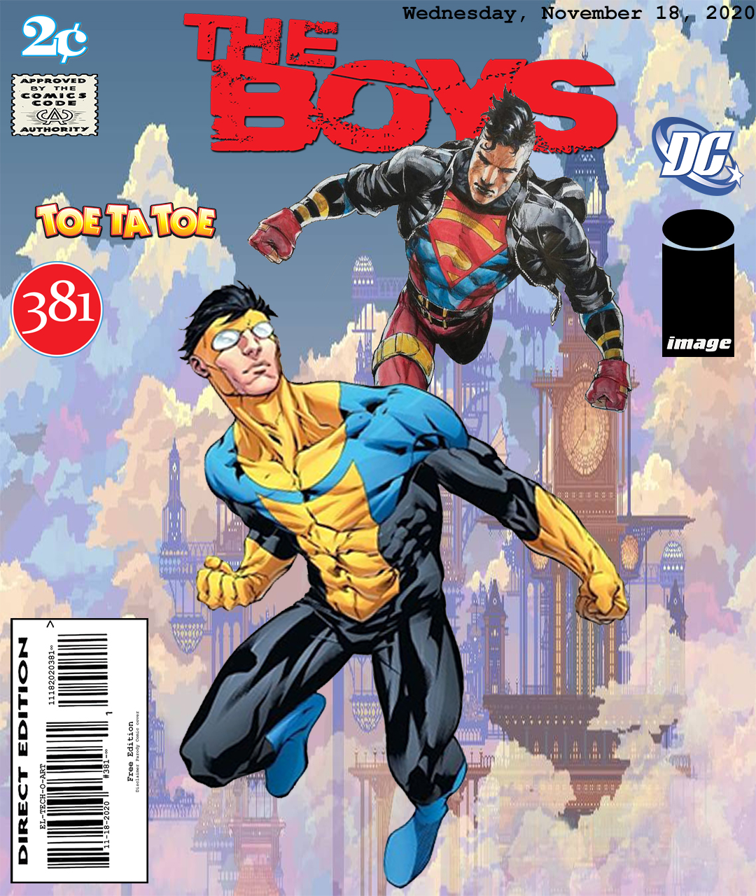 Fan Photoshop Edit Comic Cover Superboy and Invincible