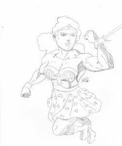 Vintage Wonder Woman Sketch
