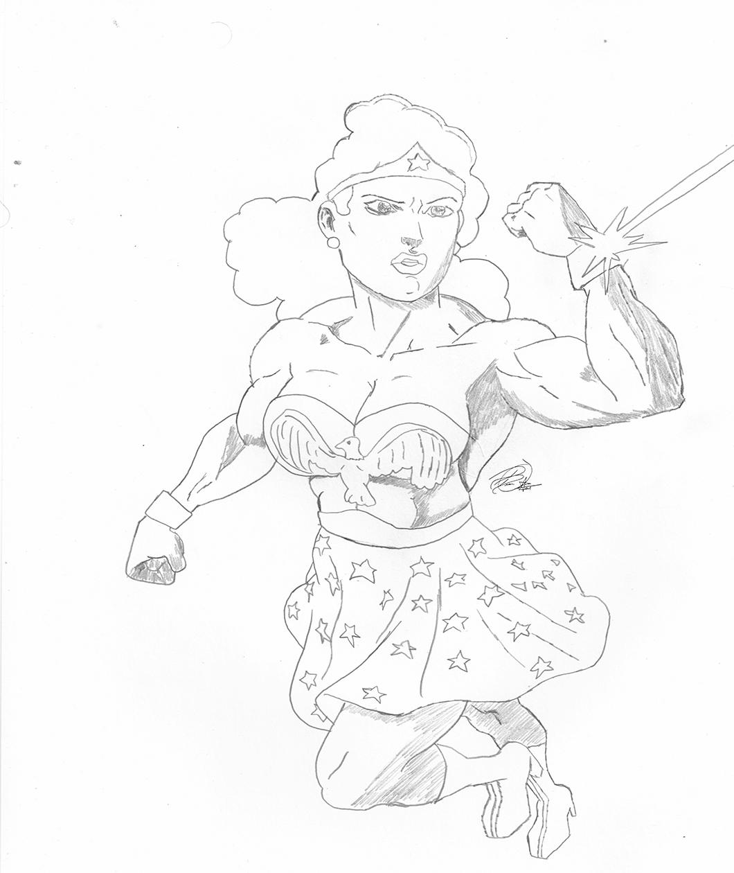 Vintage Wonder Woman Sketch
