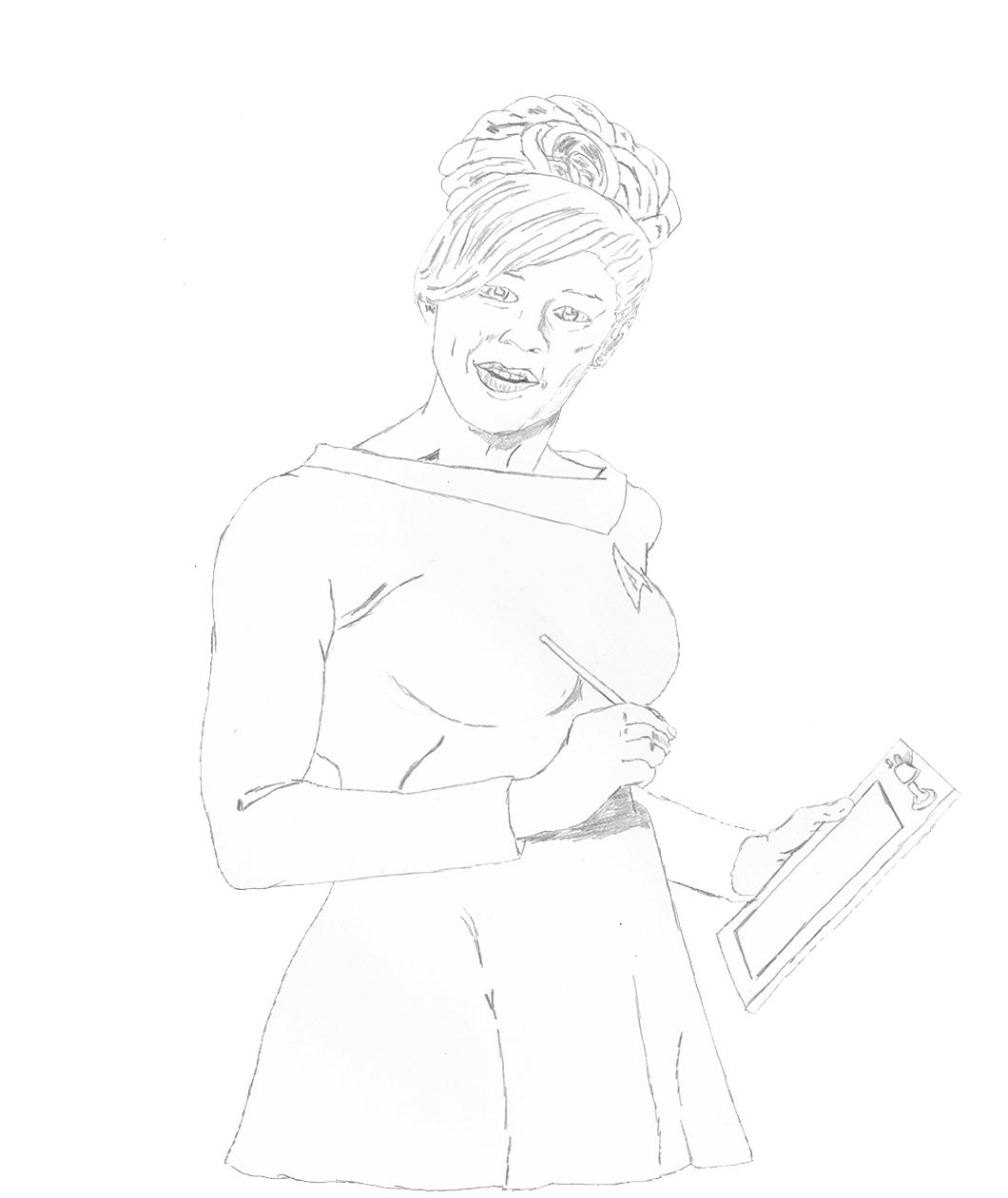 Gigi Edgley Star Trek Sketch