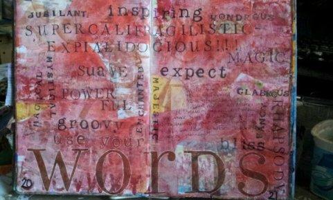 Today I just felt wordy. I arted words I love to use.