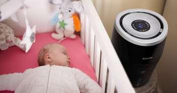Philps Luftbefeuchter Kinderzimmer guter Schlaf schlafen einschlafen