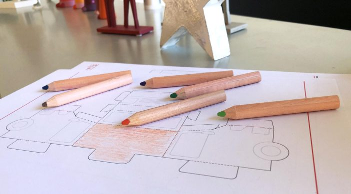 canon, pixma, creativepark, createyourstory, Canonschweiz, falten, basteln, kreativ, ausmalen, Farben