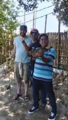 Angel im Fischteich