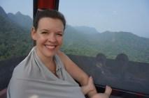 Stillen in Malaysia / Langkawi in der Seilbahn