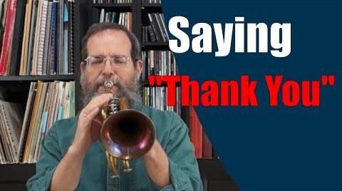 "Saying ""Thank You"" – Trumpet Improvisation No 69"