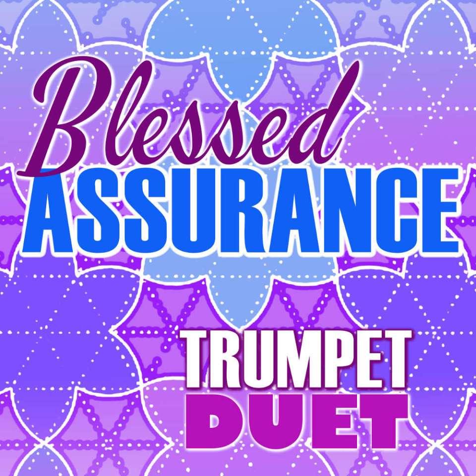 Blessed Assurance Trumpet Hymn Duet Sheet Music Cover Art