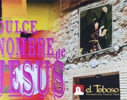 """Saluda del Párroco de El Toboso al inicio de las fiestas del """"Dulce Nombre de Jesús"""""""