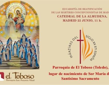 El sábado será beatificada Sor María del Santísimo Sacramento, primera monja mártir de El Toboso
