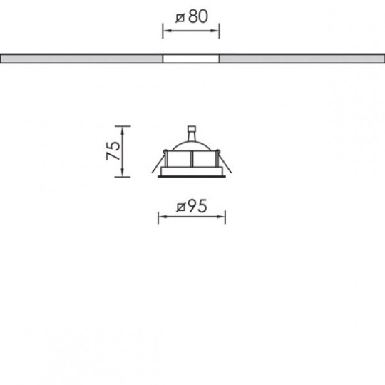 Bright MOBILIS SQUARE ugradna lampa - 22000 05 081 sema
