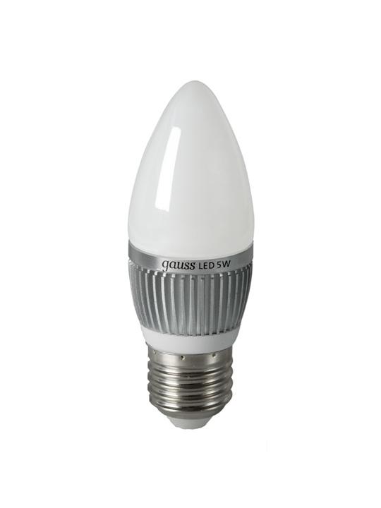 Gauss 5W E27 220V B35 510lm 4100K LED sijalica