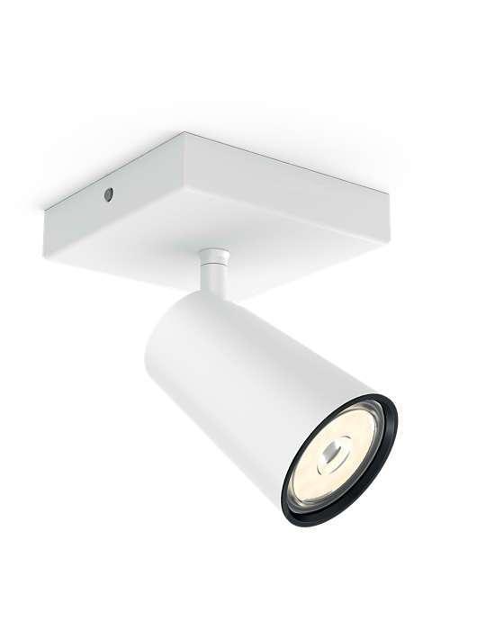 PHILIPS PAISLEY 1xGU10 BELA spot lampa - 5057131PN - 1