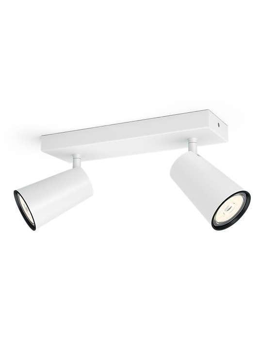 PHILIPS PAISLEY 2xGU10 BELA spot lampa - 5057231PN - 1
