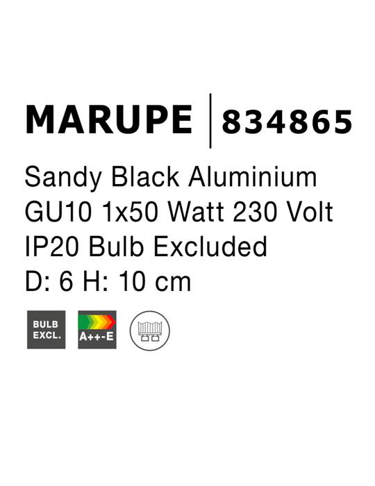 NOVA LUCE MARUPE spot lampa - 834865 - 4