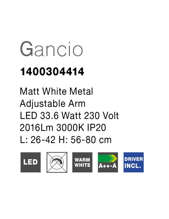 NOVA LUCE GANCIO plafonjera - 1400304414