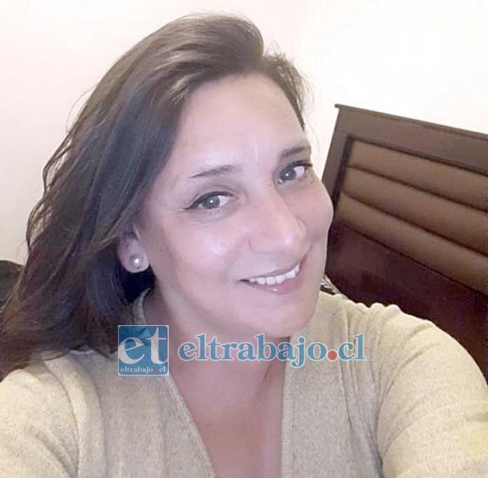 La víctima.- Sandra Carolina Pizarro Jeria, de 45 años de edad y funcionaria del Liceo San Felipe.