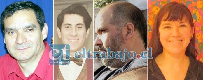 IMPERDIBLE LANZAMIENTO.- Ellos son Marco López Aballay, Diego Díaz Nakada, Felipe Mondaca y Pamela Román, gestores de este nuevo trabajo literario.