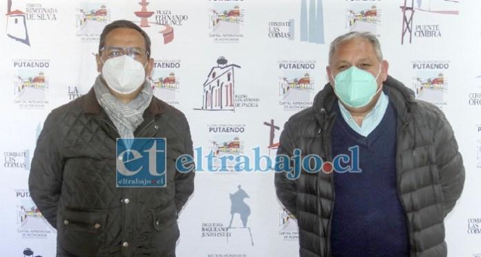 El alcalde Mauricio Quiroz junto al gobernador regional Rodrigo Mundaca.