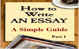 simple guide to writing a good English essay - part 1