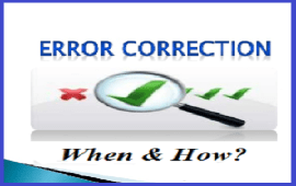 when and how to correct students errors