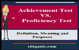 difference between achievement and proficiency test