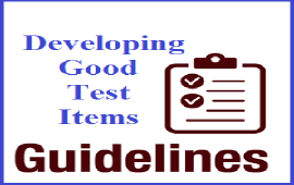 guidelines to develop good test items