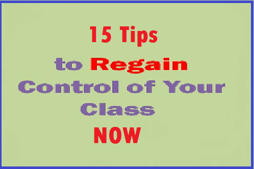 regain control of your class